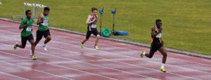 100m Sprint -Mervyn Shalemba
