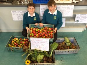 Food and 2 pupils from Garden