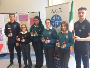 Darragh and Patrich with some of our students and protein milk from Lee Strand