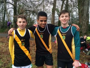 Junior Boys Cross Country Team