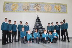 Students in our Centenary Hall with the new School Water Bottles