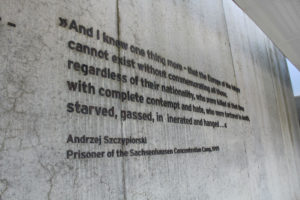 Prisoner Quote from Sachsenhausen