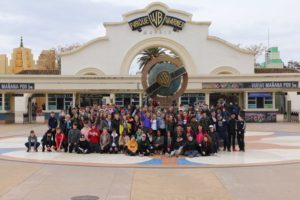 Second years on their visit to warner brothers near Madrid