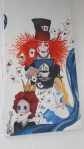 Some Mad Hatter Art work in the Library