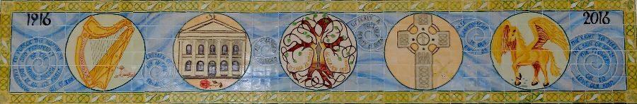 Ceramic banner
