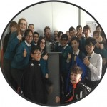 Author Dave Rudden and Pupils