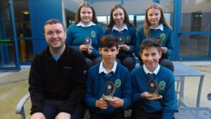 Second Year Maths Quiz winners: With teacher 2nd year maths Mr Culloty were Darragh Murphy,Conor Bradshaw,Izabela Gacez,Caoimhe Leahy and Lauren Clifford.