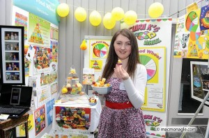 Ciara Kelliher and her Food Wheel concept.