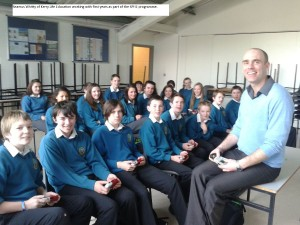 Séamus Whitty of Kerry Life Education working with first years as part of their SPHE programme.